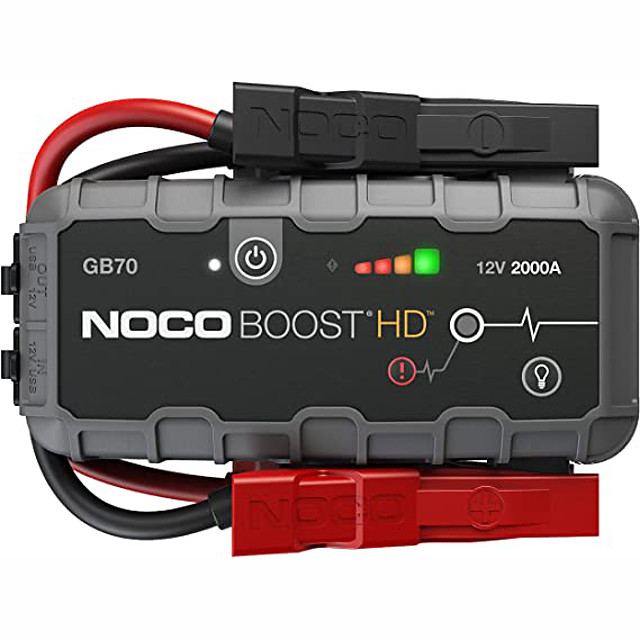 NOCO Boost HD GB70 2000 Ampere 12 Volt Ultra-Safe Portable Car Lithium Battery Emergency Power Kit Car Jump starter suitable for up to 8 liter gasoline and 6 liter diesel engines
