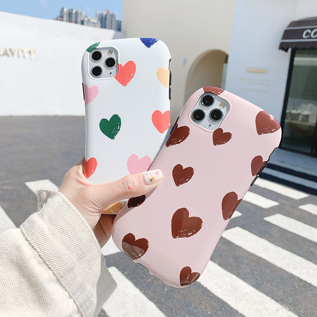 Case For Apple iPhone 11 / iPhone 11 Pro / iPhone 11 Pro Max Shockproof Back Cover Tile / Heart TPU