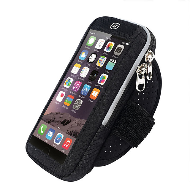 Phone Armband Running Armband for Running Hiking Outdoor Exercise Traveling Sports Bag Reflective Adjustable Waterproof Nylon Neoprene Men's Women's Running Bag Adults