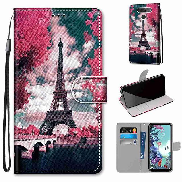 Case For LG Q70 / LG K50S / LG K40S Wallet / Card Holder / with Stand Full Body Cases Tower Bridge PU Leather / TPU for LG K30 2019 / LG K20 2019