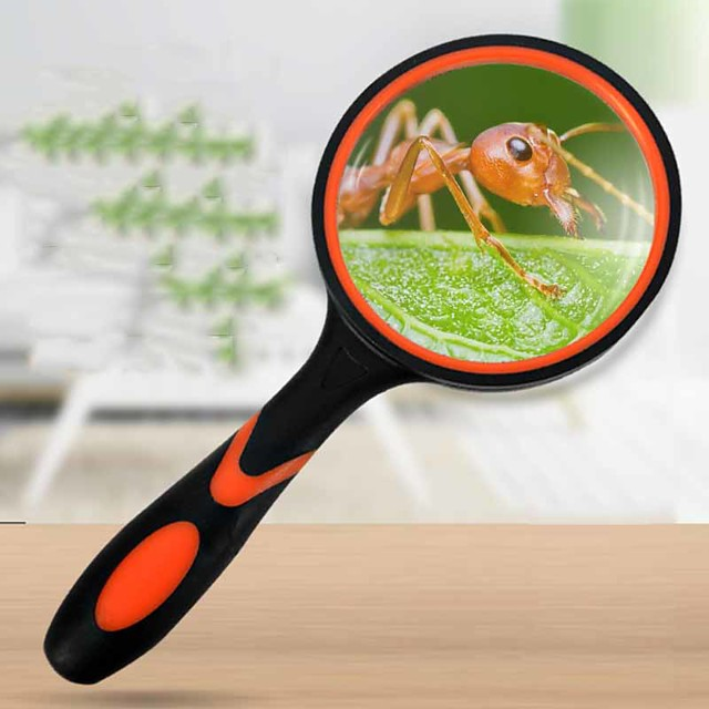 Magnifier Magnifying Glass Set Handheld High Magnification with Lighting Function 20 Magnifiers / Magnifier Glasses Reading Inspection 100 mm ABS+PC Outdoor Indoor Seniors