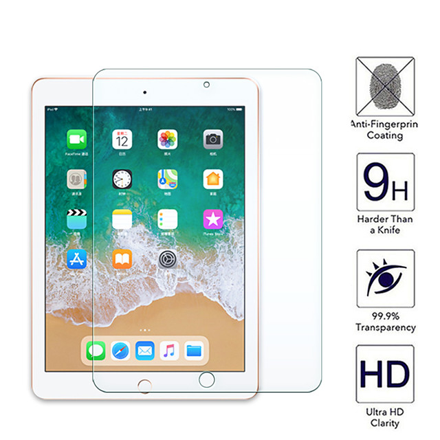 1PC Tempered Glass Protective Film For iPad 9.7 Pro Screen Protector Apple iPad 2017 2018 5/6th Air1/2 Screen Film Protection