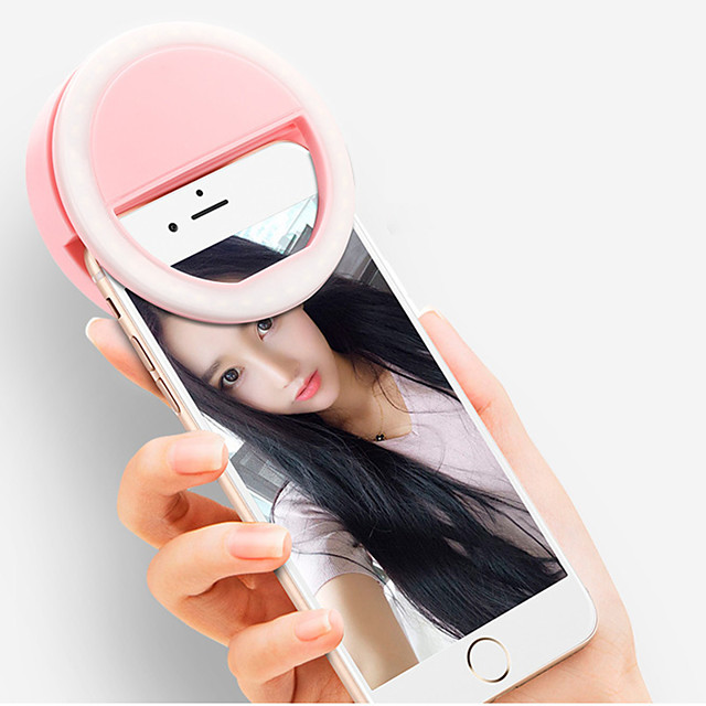 Portable Mini Mobile Phone LED Retardant Flash Lenses Beauty Self-timer Fill Light Smart Selfie For Phone