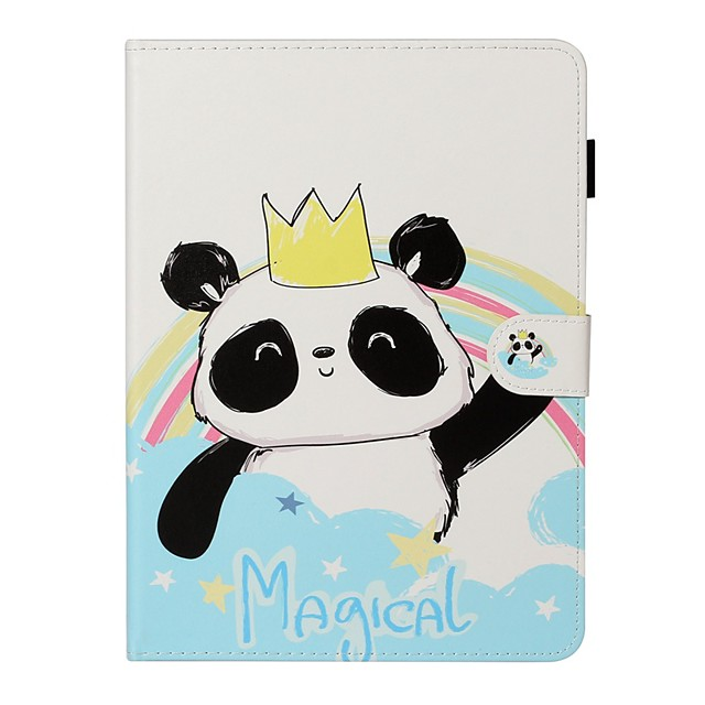 Case For Apple iPad New Air 10.5 / iPad Mini 3/2/1/4/5 Card Holder / with Stand / Flip Full Body Cases Panda PU Leather For iPad 10.2 2019/Pro 11 2020/Pro 9.7/2017/2018