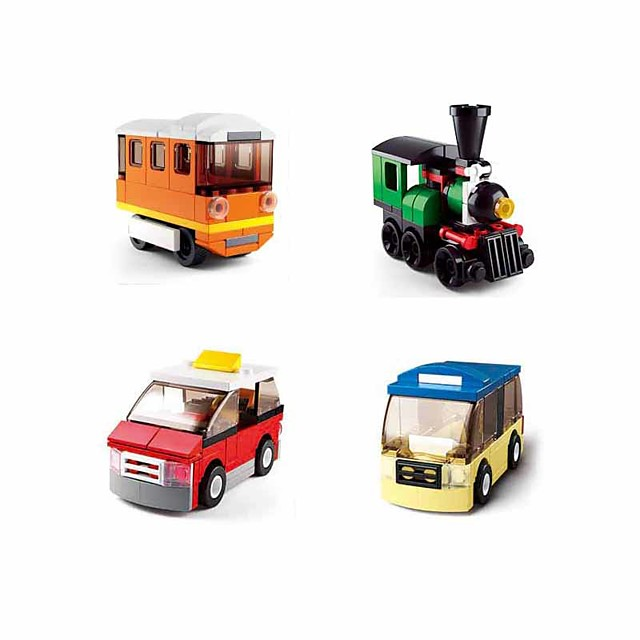 Building Blocks Educational Toy Construction Set Toys 214 pcs Vehicles Bus Cartoon compatible Plastic Shell Legoing Exquisite Hand-made Decompression Toys DIY Boys and Girls Toy Gift / Kid's
