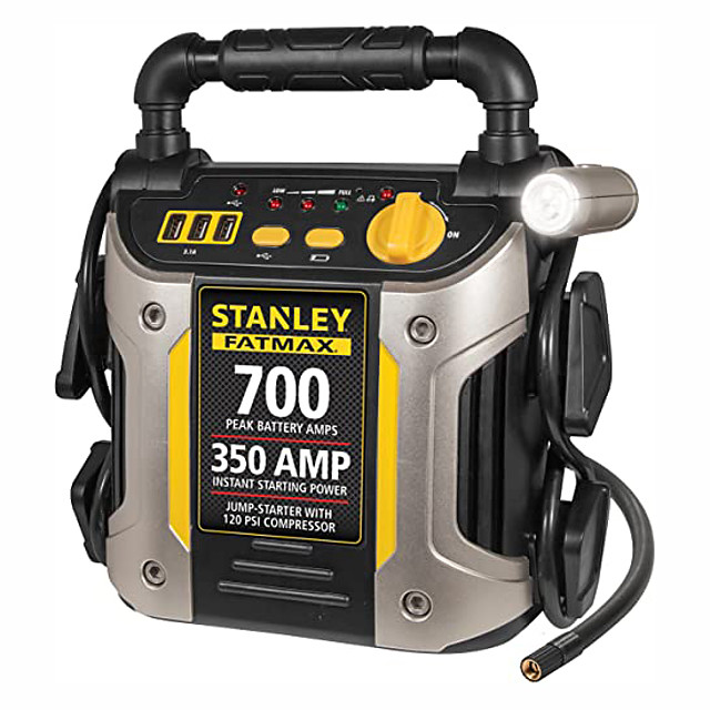 Stanley Battery Maintainer 2 Silver-700 Peak Amplifier and Compressor Car Jump starter