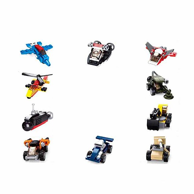 Building Blocks Educational Toy Construction Set Toys 323 pcs Cartoon Airplane compatible Plastic Shell Legoing Exquisite Hand-made Decompression Toys DIY Boys and Girls Toy Gift / Kid's