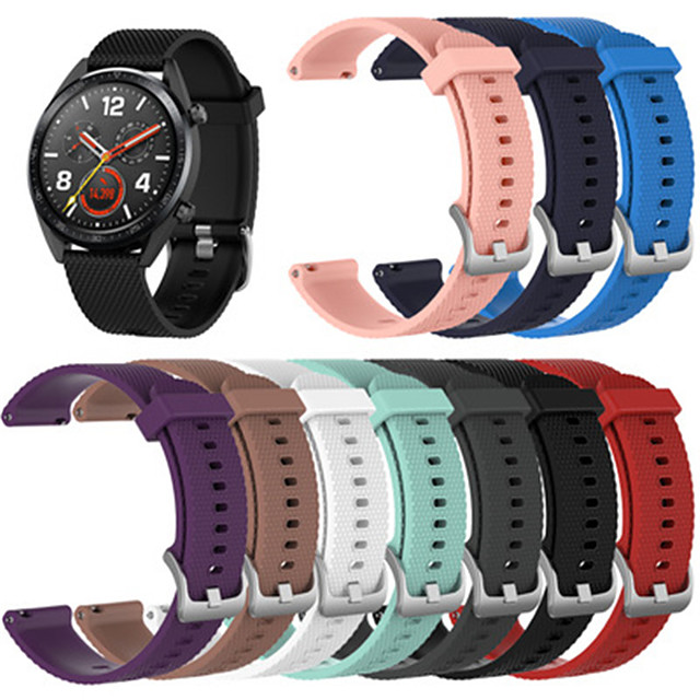 Watch Band for Gear S3 Classic / Samsung Galaxy Watch 46mm Samsung Galaxy Sport Band / Classic Buckle Silicone Wrist Strap