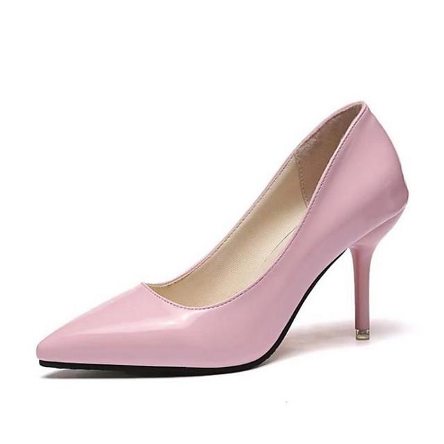 Women's Heels Stiletto Heel Pointed Toe Daily PU Black / Light Red / Pink