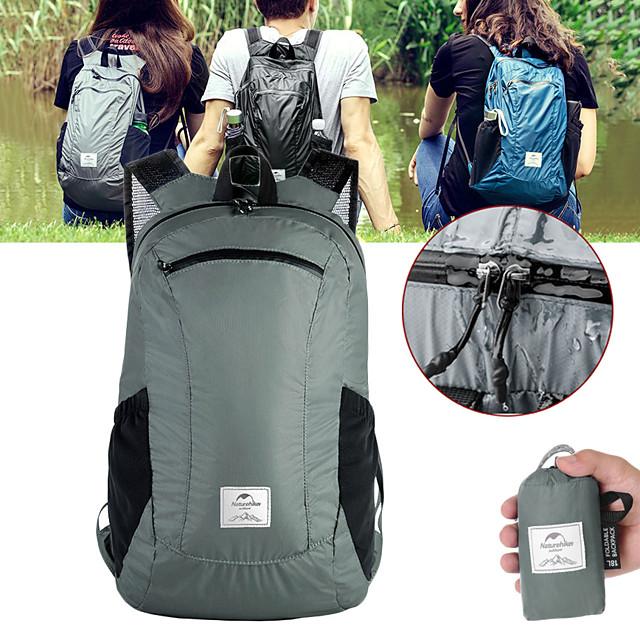 Naturehike 18 L Hiking Backpack Lightweight Packable Backpack Lightweight Rain Waterproof Ultra Light (UL) Waterproof Zipper Outdoor Camping / Hiking Climbing Cycling / Bike Nylon Black Grey Blue