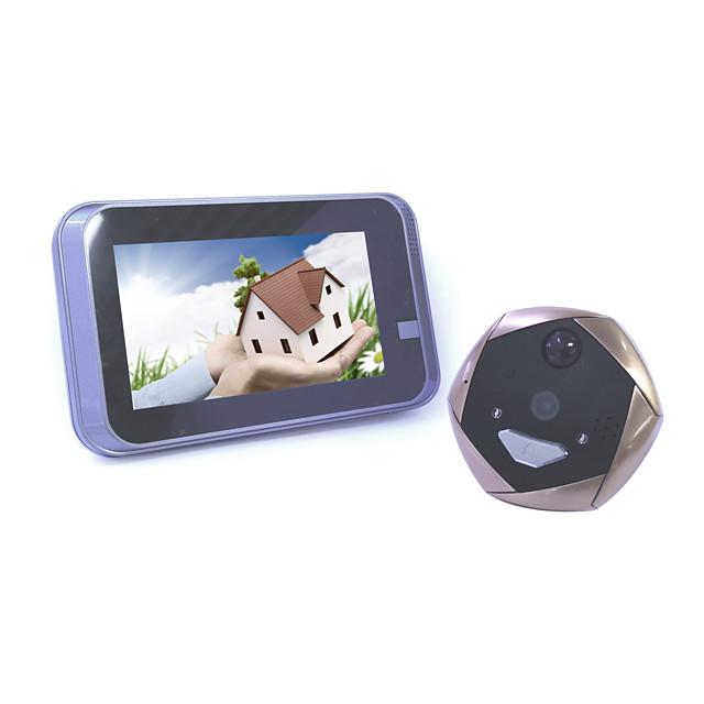 4.3 inch smart WIFI cat's eye doorbell remote sensor video shooting wide angle 1.3 million HD remote control unlock