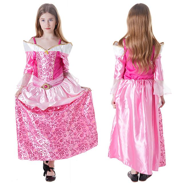 Princess Sleeping beauty Aurora Dress Cosplay Costume Girls' Movie Cosplay A-Line Slip Halloween Pink Dress Halloween Carnival Masquerade Satin / Tulle