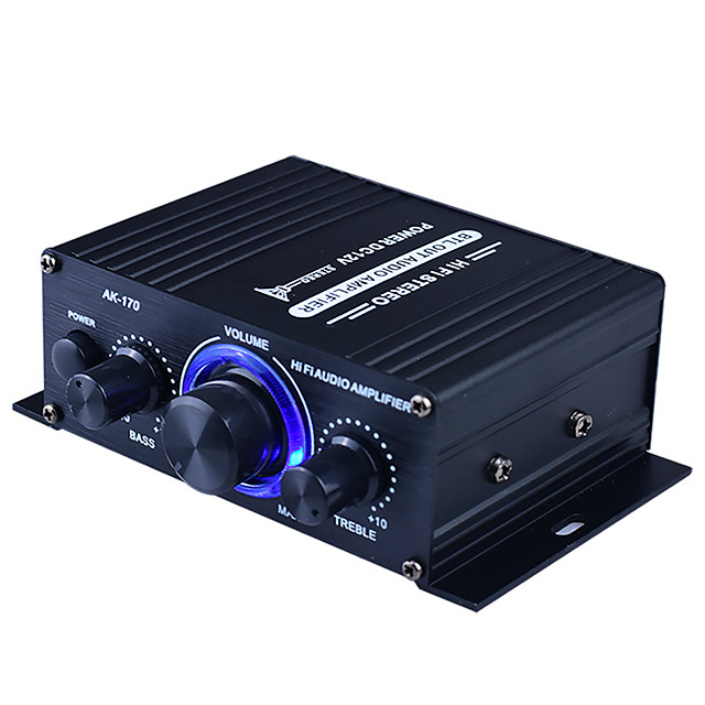 Power Amplifier Subwoofer Digital Audio Stereo Hi-Fi 20+20 2.0 AK170 90 for Car Home Theater Speakers DIY