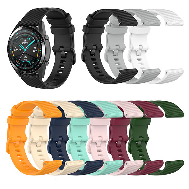 Sport Silicone Wrist Strap Watch Band for Samsung Galaxy Watch 46mm / Gear S3 Classic / Frontier / Garmin Chronos Replaceable Bracelet Wristband
