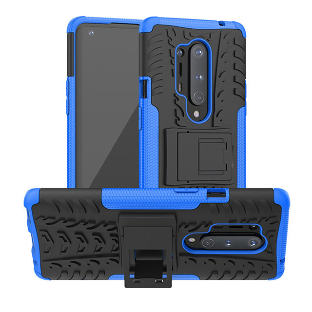 Shockproof Protection Cover Phone Case For OnePlus 8 Pro OnePlus 7T Pro One Plus 7 Pro OnePlus 6T One Plus 6 Rubber Armor Hybrid PC Hard Cover For One Plus 8 Silicone TPU Bumper Protective with Stand