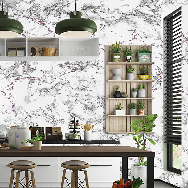 Marble Pattern Self Adhesive Wallpaper 3D Waterproof Home Decor Wallpapers for Living Room Decorative Wall Stickers 45CM*100CM