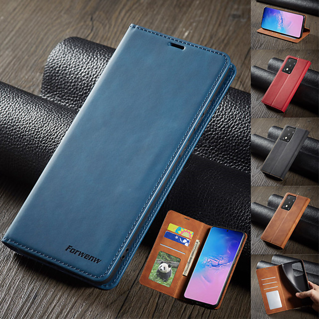 Luxury Leather Magnetic Flip Case for Samsung Galaxy A12 A52 A32 A42 A51 A71 A81 A91 A10 A20 A20E A30 A40 A50 A70 S21+ S20 Plus S20 Ultra S10 S10E S10 Lite S10 Plus S9 Plus S8 Plus S7 Edge