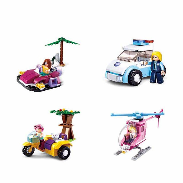 Building Blocks Educational Toy Construction Set Toys 283 pcs Vehicles Car Cartoon compatible Plastic Shell Legoing Exquisite Hand-made Decompression Toys DIY Boys and Girls Toy Gift / Kid's