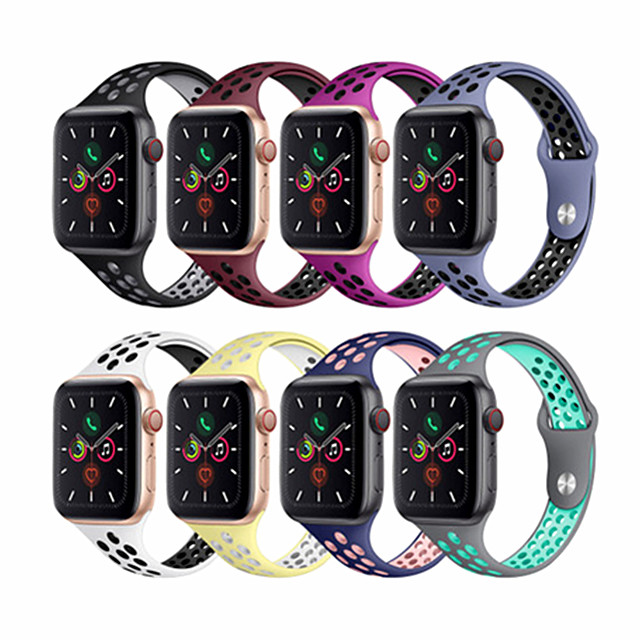 Watch Band for Apple Watch Series 5/4/3/2/1 Apple Sport Band Silicone Wrist Strap