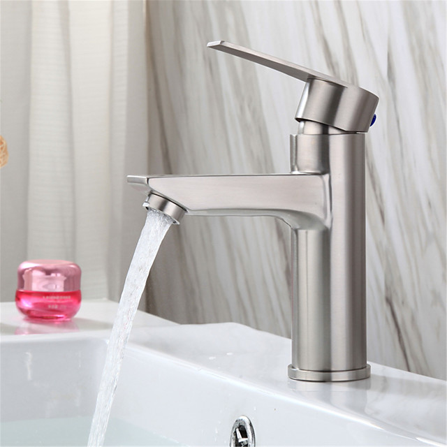 Stainless steel washbasin faucet basin basin basin ceramic basin bathroom hot and cold faucet