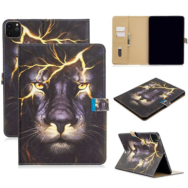 Case For Apple iPad Air/iPad 4/3/2/Mini 3/2/1 Wallet / Card Holder / with Stand Full Body Cases Animal PU Leather For iPad Pro 9.7/New Air 10.5 2019/Pro 11 2020/Mini 5/2017/2018/ipad 10.2