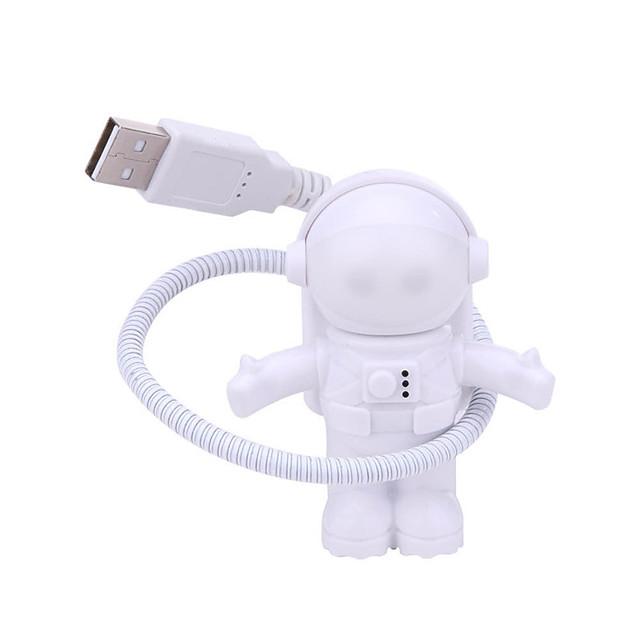 Flexible USB White Astronaut Tube Portable LED Night Light DC 5V Bulb For Computer Laptop PC Notebook Reading Home Decoration