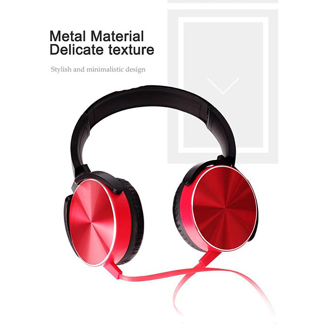 XB450 Wired Headphone Metal Heavy Bass Sound Quality Music Earphone with Mic