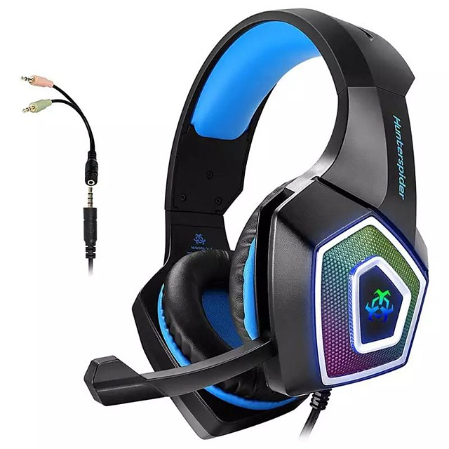 Hunterspider V1 Dual Ear Canal Bass Gaming Headset With Microphone 3.5 Mm Jack For Smart Audio Gaming Devices For PC And PS4