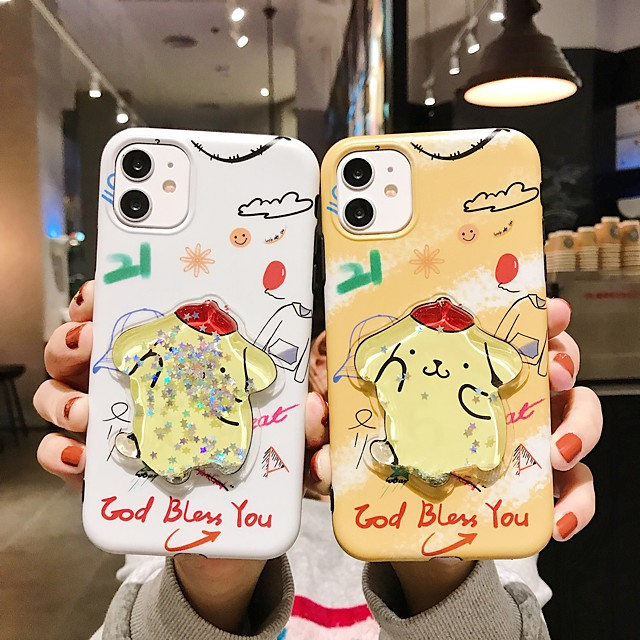 Case For Apple iPhone 11 / iPhone 11 Pro / iPhone 11 Pro Max Flowing Liquid / IMD / Frosted Back Cover Animal TPU