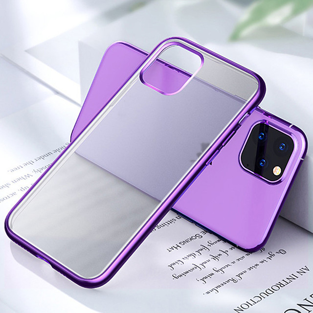 Matte Plating Clear Phone Case For iPhone SE 2020 / 11 / 11 Pro /11 Pro Max Cases For iPhone 6 / 6Plus  / 7 / 7 Plus /  8 /8 Plus / X / XS / XR / XS Max Soft Candy Color Cover Capa Fundas