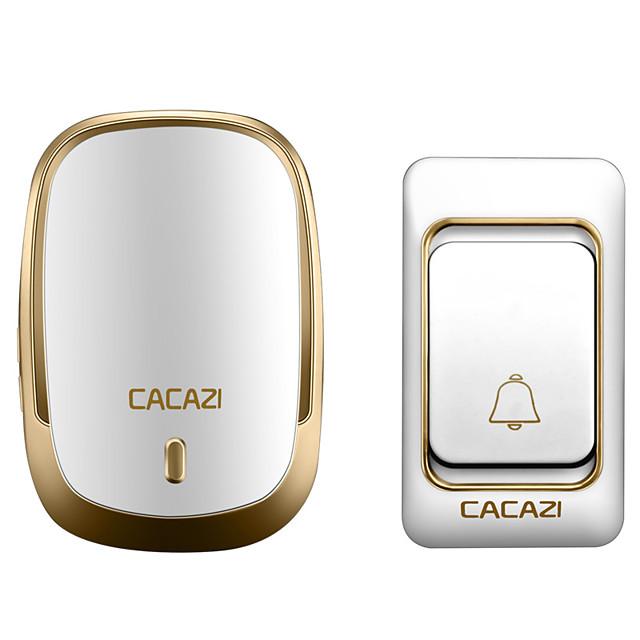 Timbre inalámbrico cacazi a prueba de agua 300m remoto EE. UU. reino unido au enchufe inteligente llamada de casa timbre de la batería botón 36 campanas 220v