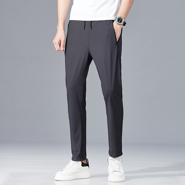 Men's Hiking Pants Summer Outdoor Loose Breathable Quick Dry Sweat-wicking Comfortable Cotton Pants / Trousers Bottoms Dark Grey Black Camping / Hiking Hunting Fishing S M L XL XXL / Wear Resistance