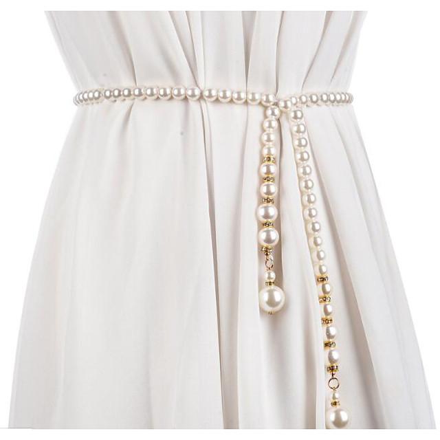 Metalic Party / Evening / Dailywear Sash With Imitation Pearl / Belt Women's Sashes
