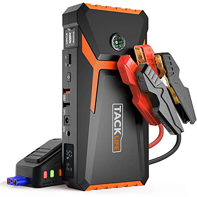 tacklife T8 12 V 800 A peak 18000 mAh Automotive JUMP entry (UP TO 6.5L gas or 5.5L diesel engine) automatic rechargeable battery increase portable POWER PACK with quick-charge cigarette lighter adapt