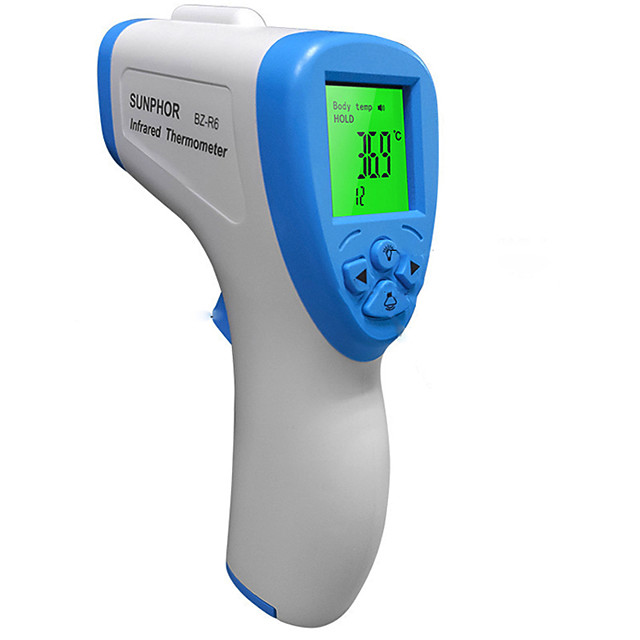 Non-contact BZ-R6 Body Thermometer Forehead Digital Infrared Thermometer Portable Digital Measure Tool FDA &amp CE Certificated for Baby Adult