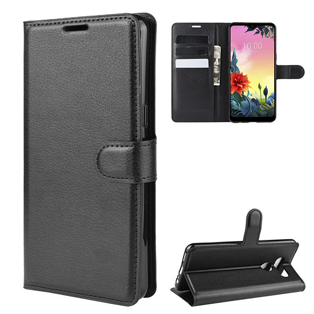 Case For LG LG Q Stylus / LG X Screen / LG X Power 2 Wallet / Card Holder / Shockproof Full Body Cases Solid Colored PU Leather