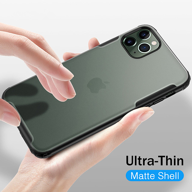 Shockproof Transparent Frosted PC Phone Case For Apple iphone 11 Pro Max SE 2020 XR XS Max X 8 Plus 7 Plus Soft TPU Silicone Frame Protection Cover