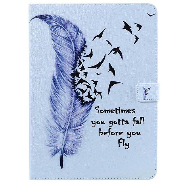 Case For Apple iPad New Air 10.5 / iPad Mini 3/2/1/4/5 Wallet / Card Holder / with Stand Full Body Cases Feathers PU Leather For iPad 10.2 2019/Pro 11 2020/Pro 9.7/2017/2018/iPad 2/3/4