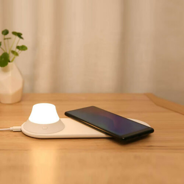 Table Lamp LED / Mobile phone Wireless Charging Modern Contemporary USB Powered For Living Room / Bedroom Plastic White
