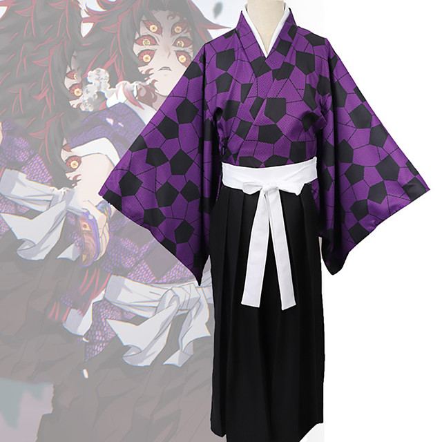 Inspired by Demon Slayer: Kimetsu no Yaiba Anime Cosplay Costumes Japanese Cosplay Suits Coat Top Pants For Men's