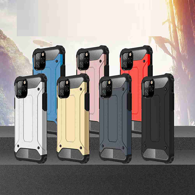 Case For Apple iPhone 11 / iPhone 11 Pro / iPhone 11 Pro Max Shockproof Back Cover Solid Colored TPU / PC