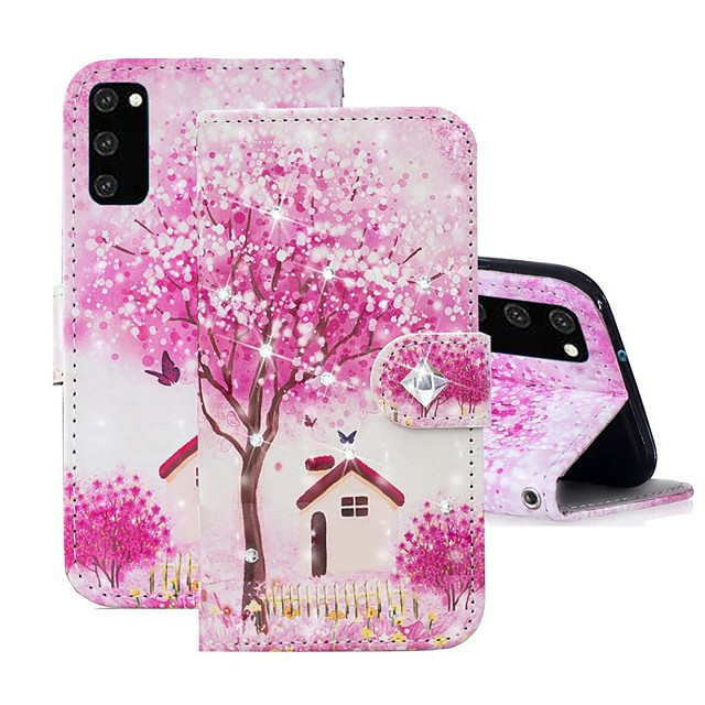 Case For Samsung Galaxy A91 / M80S / Galaxy A81 / M60S / S20 Plus Wallet / Rhinestone / with Stand Full Body Cases Tree PU Leather For Samsung Galaxy S20 Ultra/A01/A11/A21/A41/A70E