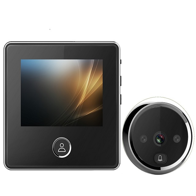 3 Inch Video Cat Eye Doorbell Smart Video Doorbell Cat Eye Built-in Battery Memory Card Hd 1 Million Pixels 120 Degrees Wide Angle