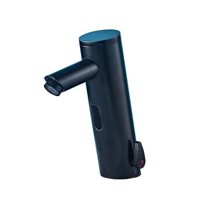 NewTech Touchless Bathroom Sink Faucet - Black Free Standing Hands free One HoleBath Taps / Brass
