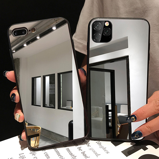 Case for iPhone 11 Pro Max Mirror Mirror Mobile Phone Case XS Max Can Make up The Makeup Mirror Highly Fresh 6/7 / 8Plus / SE2020 Protective Case