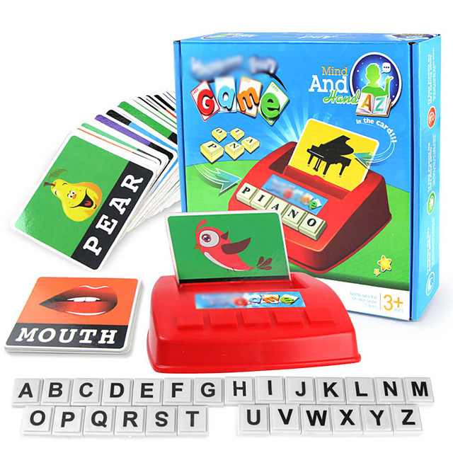 Educational Flash Card Matching Letter Game Educational Toy Letter Spelling Letter Reading Game Improve Memory ABS Resin Kid's Preschool Cute Kits Non Toxic 30 pcs 3-6 Y