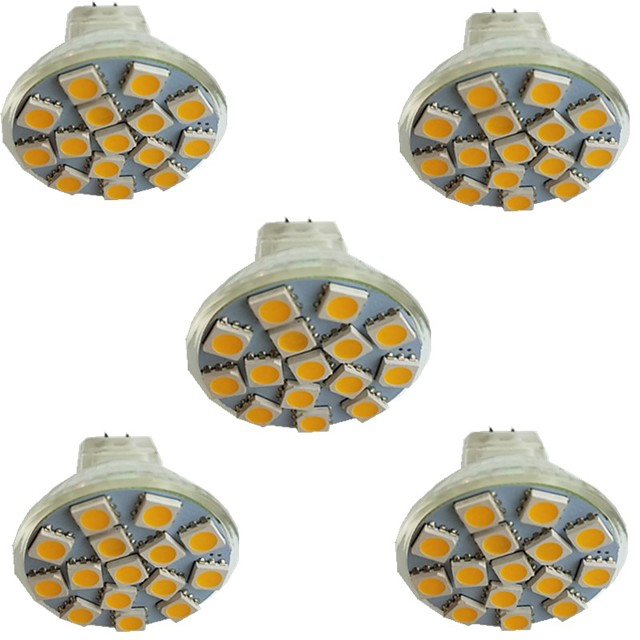 5pcs 3 W LED Spotlight 300 lm MR11 15 LED Beads SMD 5050 Warm White Cold White Natural White 9-30 V