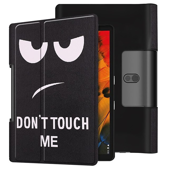 Case For Lenovo Yoga Smart Tab YT-X705F Shockproof / with Stand / Flip Full Body Cases Eyes PU Leather Case For Lenovo Yoga Smart Tab YT-X705F