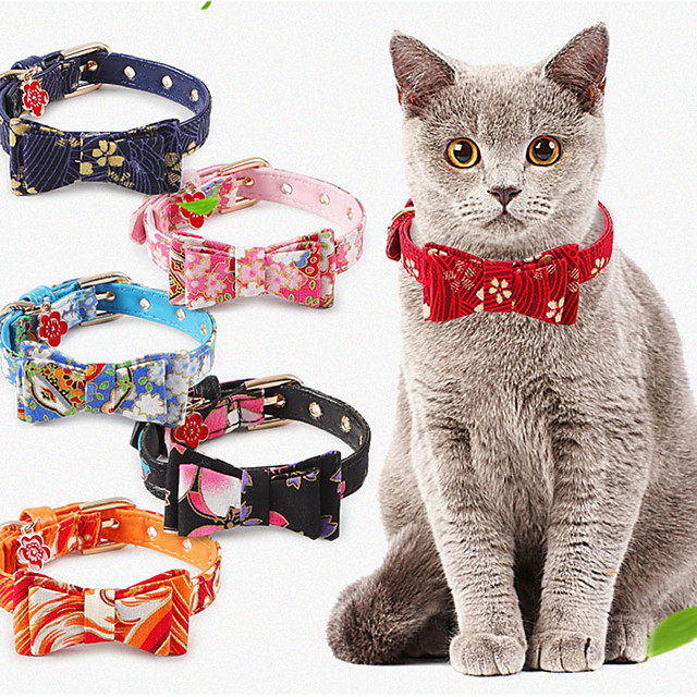Cat Collar Tie / Bow Tie Adjustable Size Bow Tie Lolita PU Leather / Polyurethane Leather Black Red