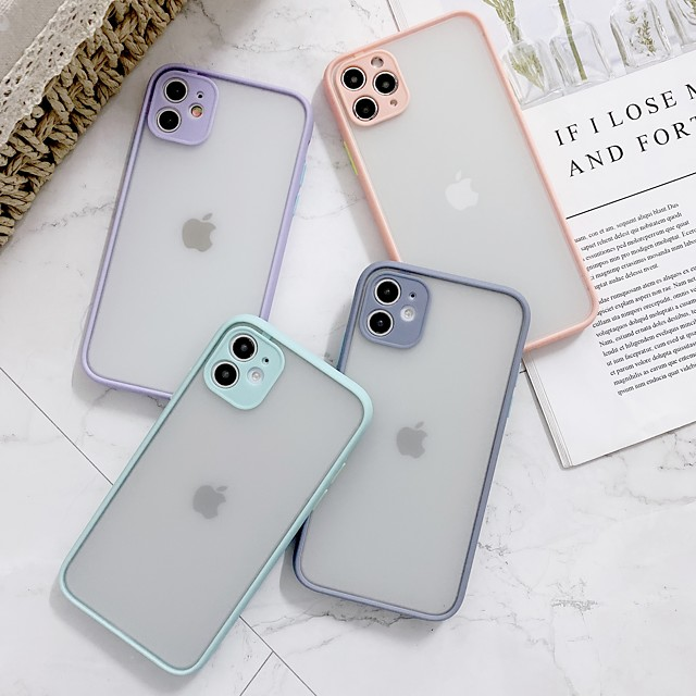 Translucent PC Case for Apple iPhone 11 Pro Max X XR XS Max 8 Plus 7 Plus 6 Plus SE Multicolor Candy Back Cover